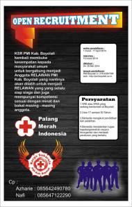 OPEN RECRUITMENT KSR PMI BOYOLALI 2014