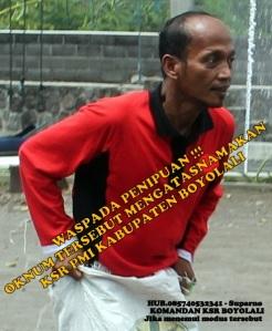 Oknum yang mengatasnamakan KSR PMI Boyolali sebagai modus operandinya.